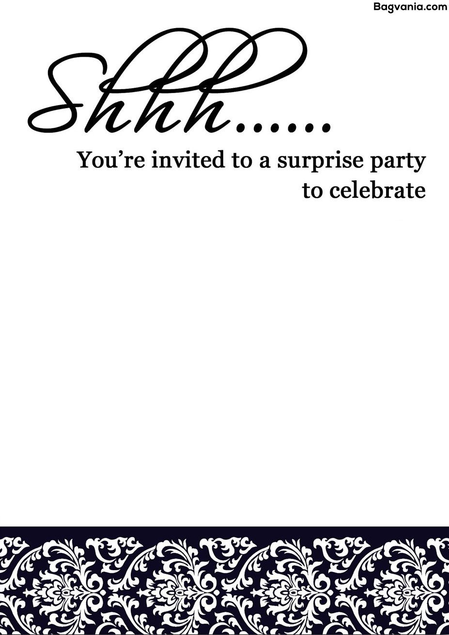 free printable surprise birthday invitations  u2013 bagvania free printable invitation template