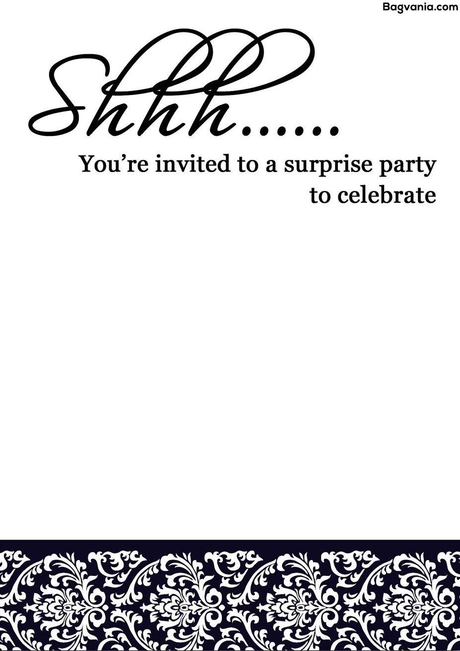 surprise birthday party invitations