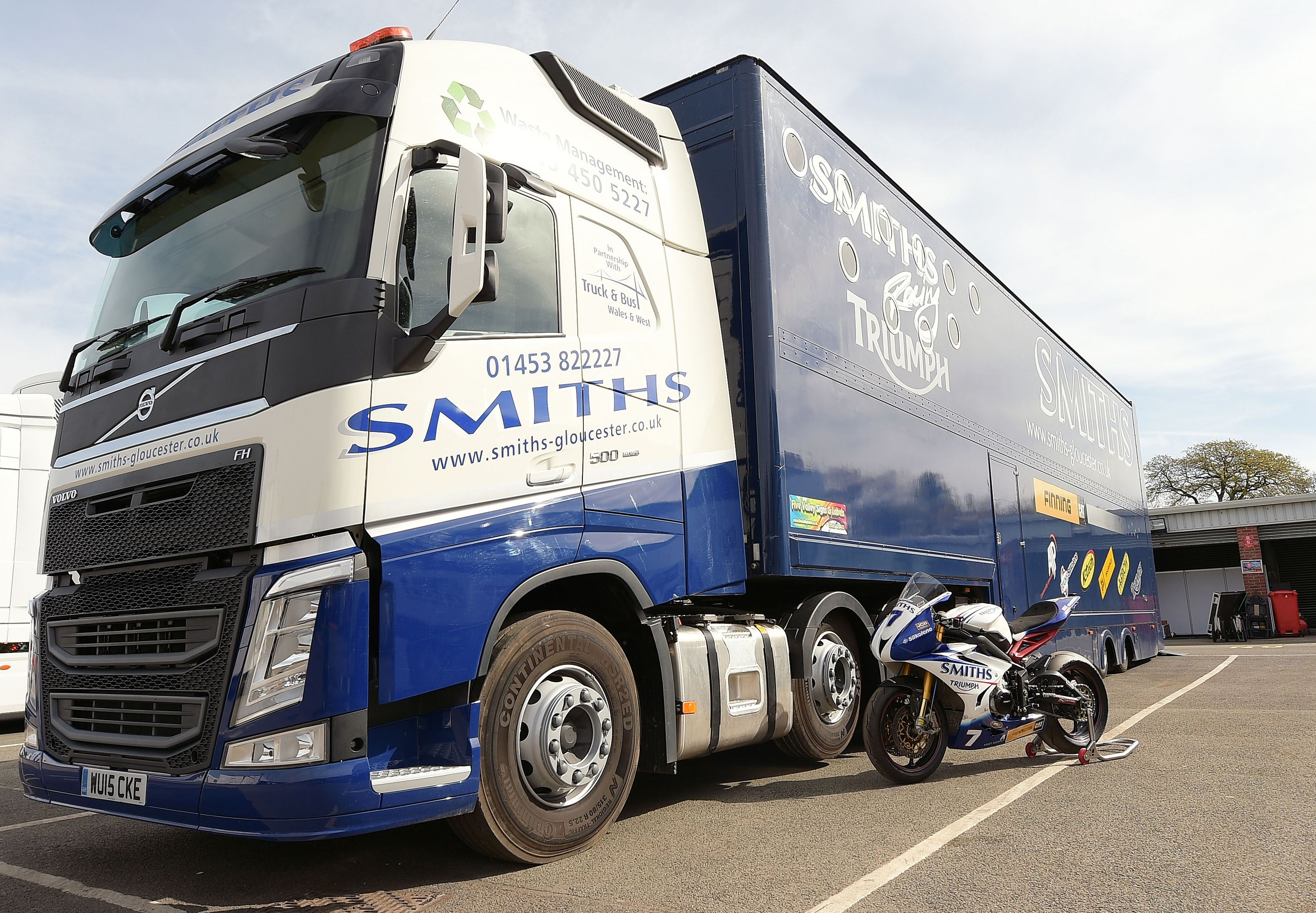 Smiths Racing head for the chequered flag with Truck and Bus Wales