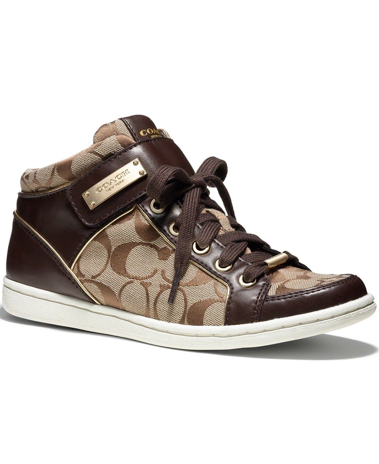 COACH Zany Logo High Top Sneakers Sneakers Shoes Macy s