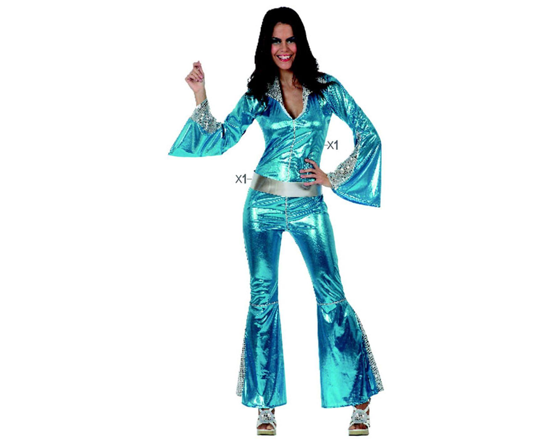 Comprar disfraz chica disco mono azul guau talla m a 17 99 for Disfraces baratos
