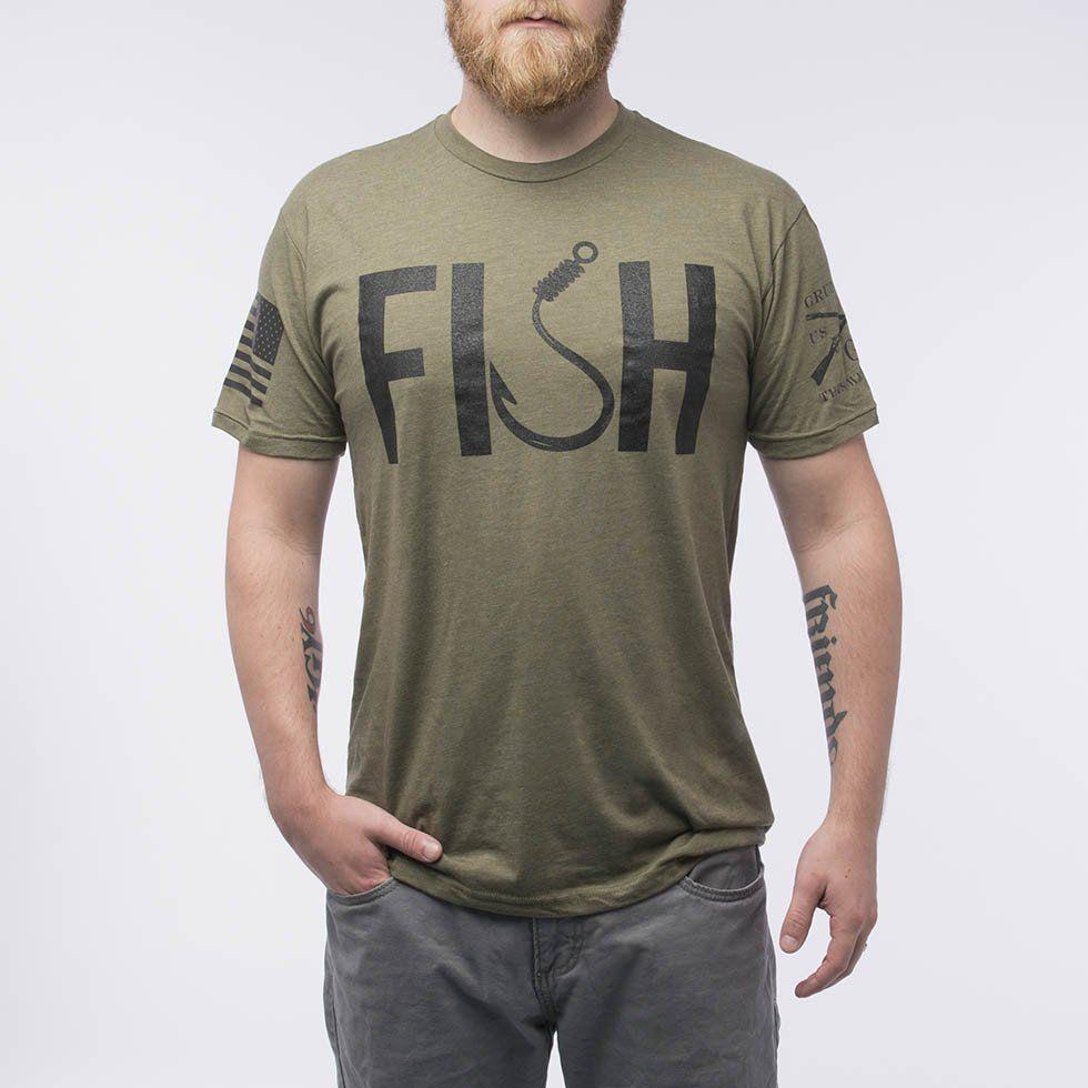 f6d78236 Fish Fishing T Shirts, Grunt Style, Military Green, Menswear, Gift Ideas,