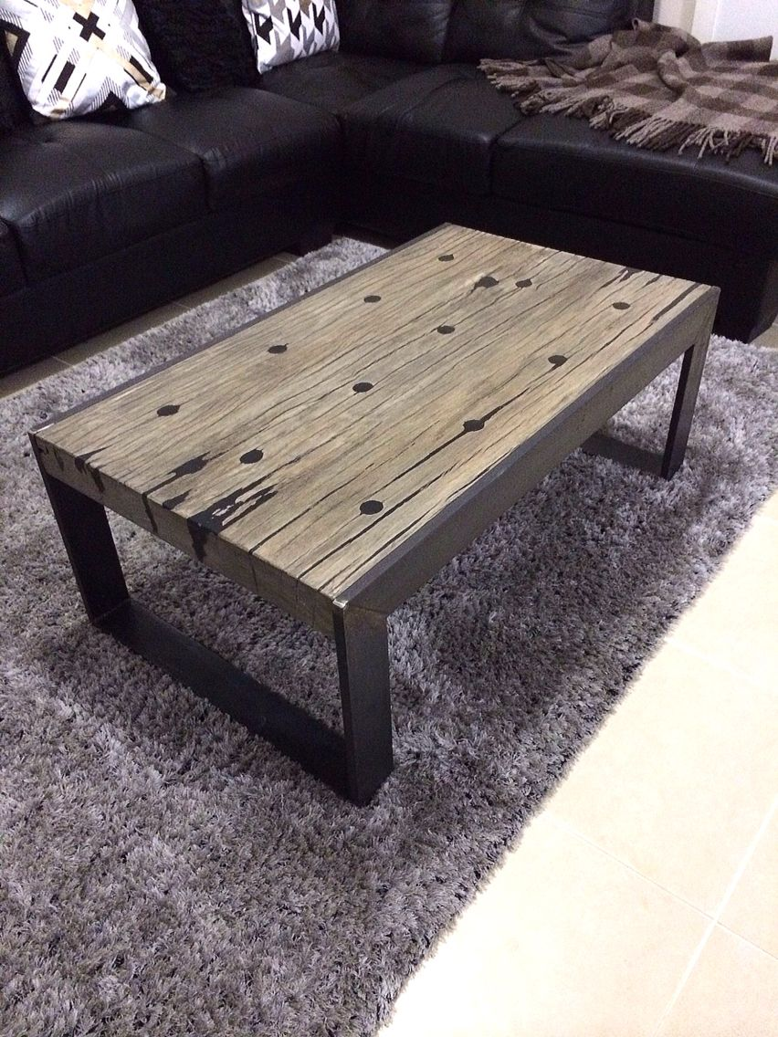 Heritage Australian Hardwood Farm Fence Posts Coffee Table With Aged Grey Finish And Industrial Design Furniture Rustic Industrial Furniture Diy Furniture Easy [ 1136 x 852 Pixel ]