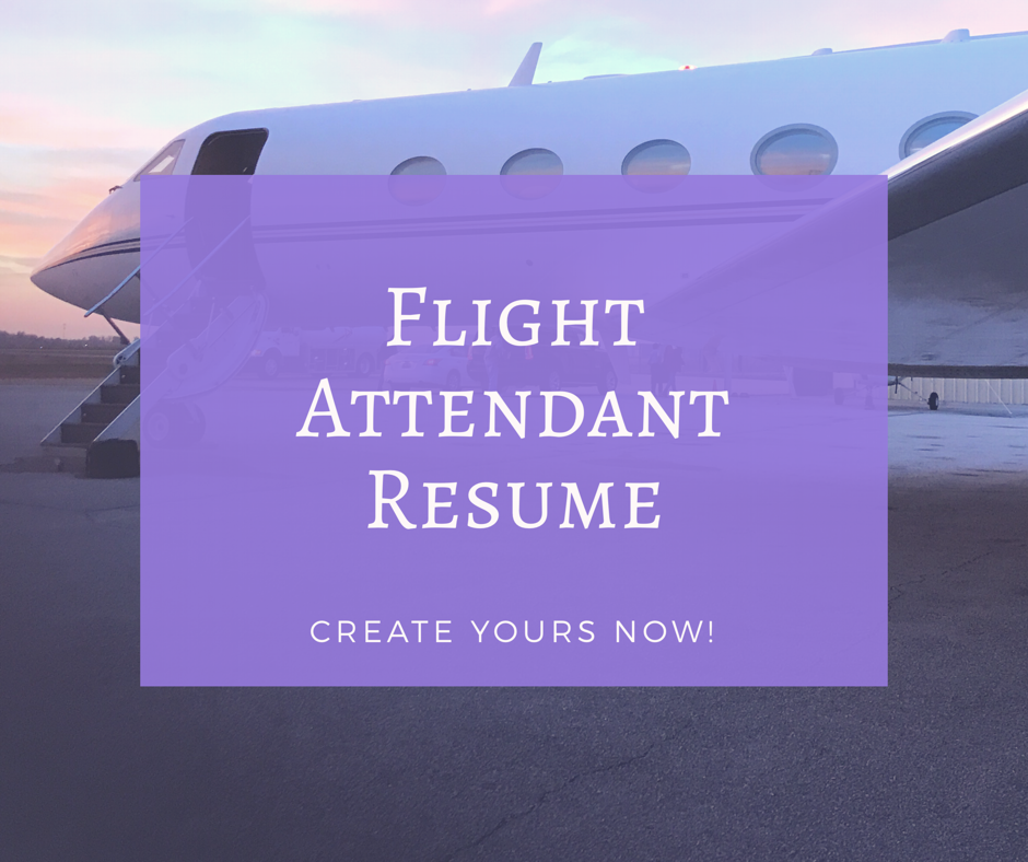 How To Make A Flight Attendant Resume Modern Design To Catch The