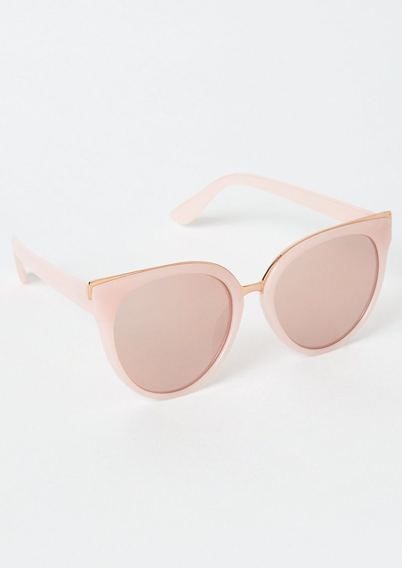 Photo of Rose Gold Cat Eye Sunglasses