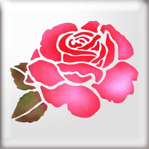 Stencil Flower Stencil Rose Stencil Flower Art