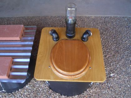 Updated self ventilation non-bucket composting toilet systems ...