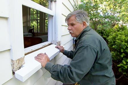 How to replace a rotted windowsill smart things to do - Replacing a window sill exterior ...