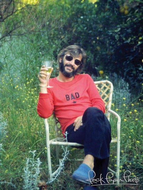 Champagne In Hand Ringo Celebrates Turning 35 July 1975 Pic By Nancy Lee Andrews Who Was Engaged To The 70s