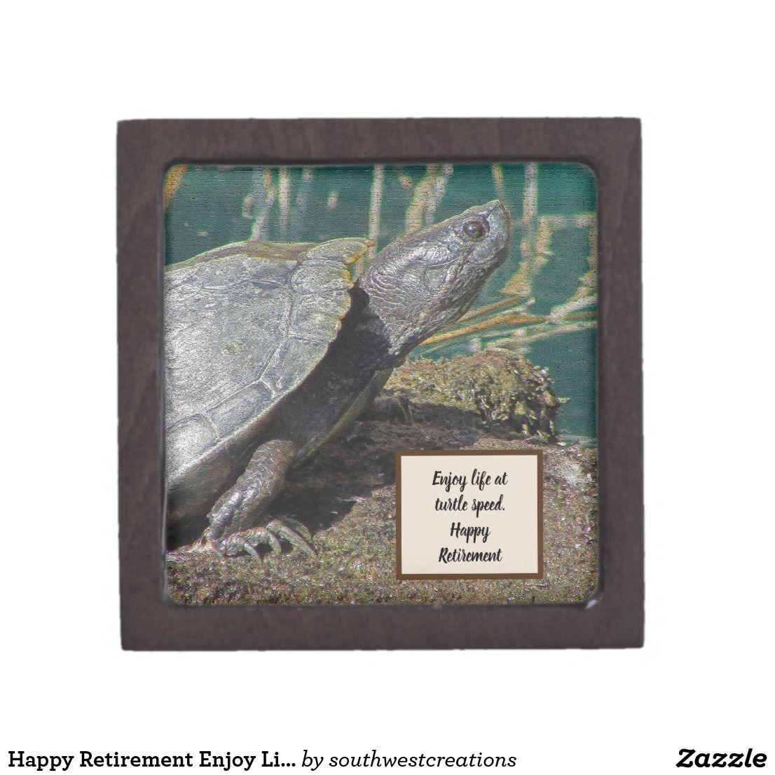 Happy Retirement Enjoy Life Desert Turtle Keepsake Gift