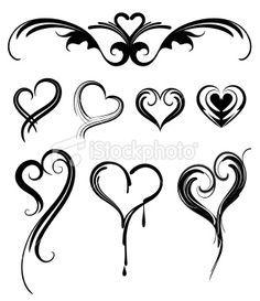 Small Heart Tattoos On Pinterest Heart Tattoos Tattoos And Body Stammestattoo Designs Bild Tattoos Form Tattoo