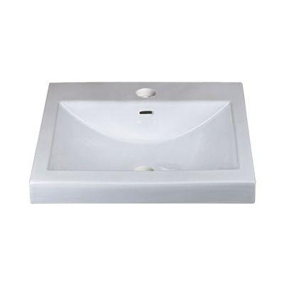 Ronbow Ceramic Rectangular Vessel Bathroom Sink With Overflow