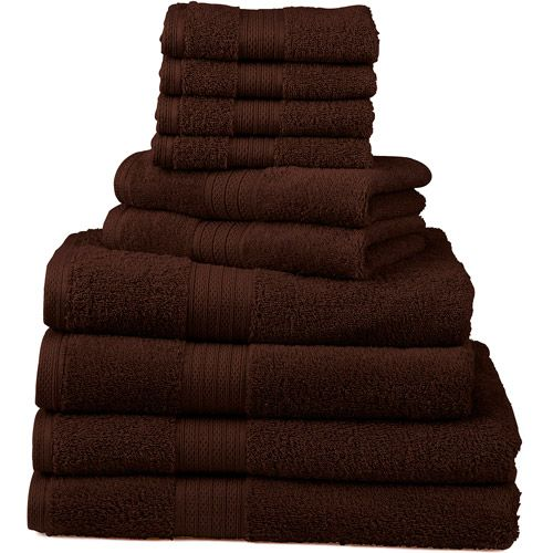 10-Piece Deluxe Towel Set, expresso color... $37. i need two sets of these.