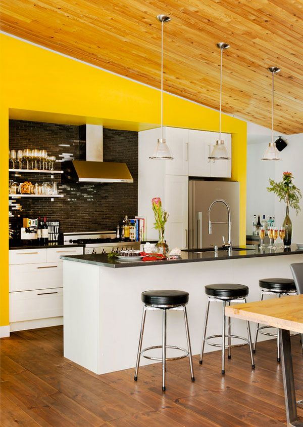 9 Accents Wall Colors That Can Spice Up Any Kitchen Minimalist Kitchen Design Kitchen Design Accent Wall In Kitchen