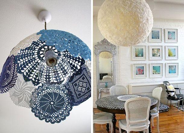 Home Made Lamps inspiration for a homemade lamp | dingen om te proberen / fun