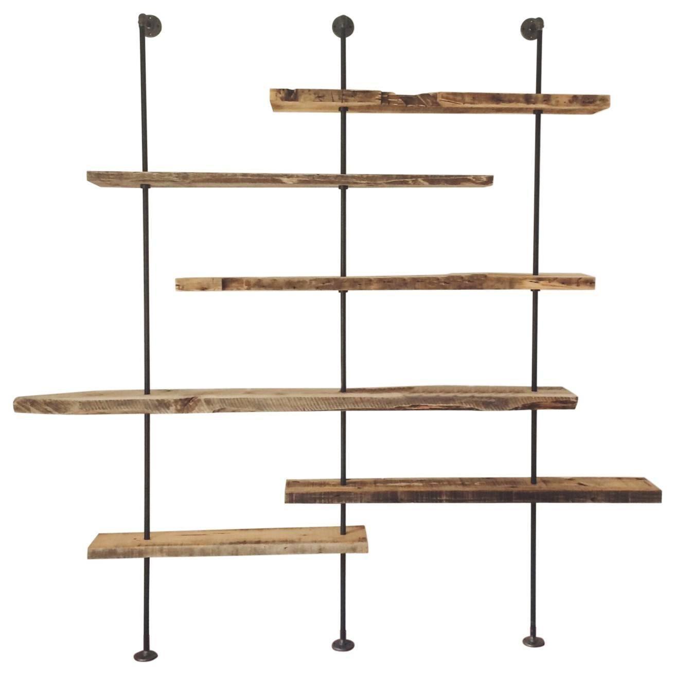 Moderne Regale Mit Altholz Im Alter Geborgen Holz Von New York