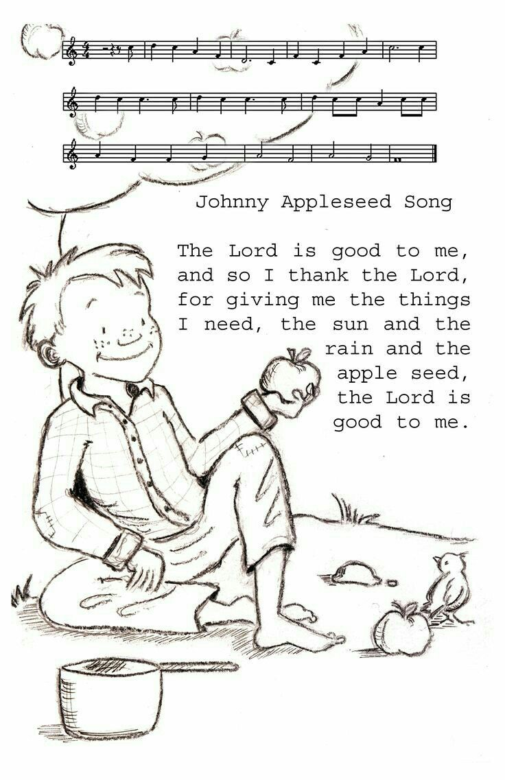 Pin by Mikeandshawnatn on Letter A Johnny appleseed song