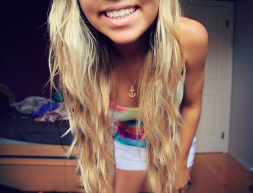 anchor smile perfect teeth blonde tie dye tan hair styles and hair fashion pinterest. Black Bedroom Furniture Sets. Home Design Ideas