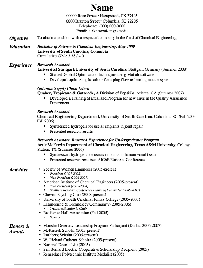 Supply Chain Management Resume Example Of Gatorade Supply Chain Resume  Httpexampleresumecv