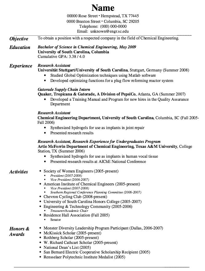 Example Of Gatorade Supply Chain Resume Examples Resume Cv