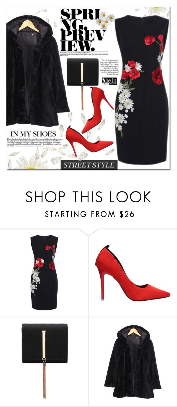 """""""SHEIN"""" by j-sharon ❤ liked on Polyvore featuring chic, dress and shein"""