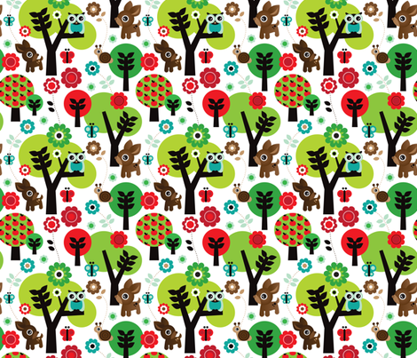 Woodland owl oh deer fabric by littlesmilemakers on Spoonflower - custom fabric