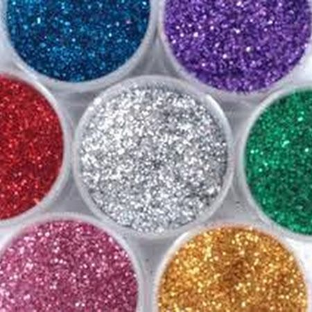 Edible Glitter!!! 1/2 cup sugar, 10 drops food colouring, preheat oven 350 for 10 minutes, bake for 10 minutes. Store up to a couple of months. Yay fun!