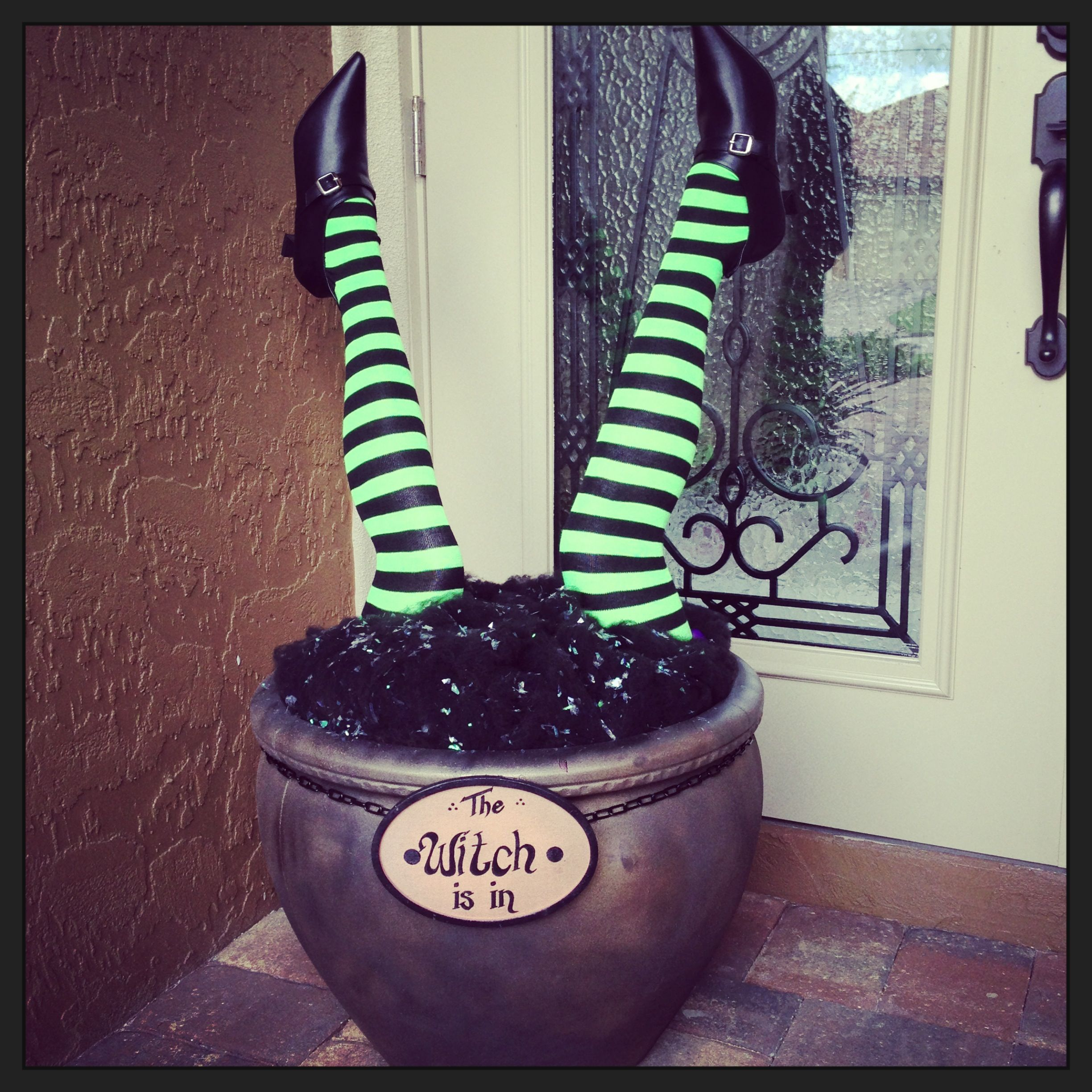 My Witch Legs Cauldron Fun Halloween Decor Witch Legs Diy