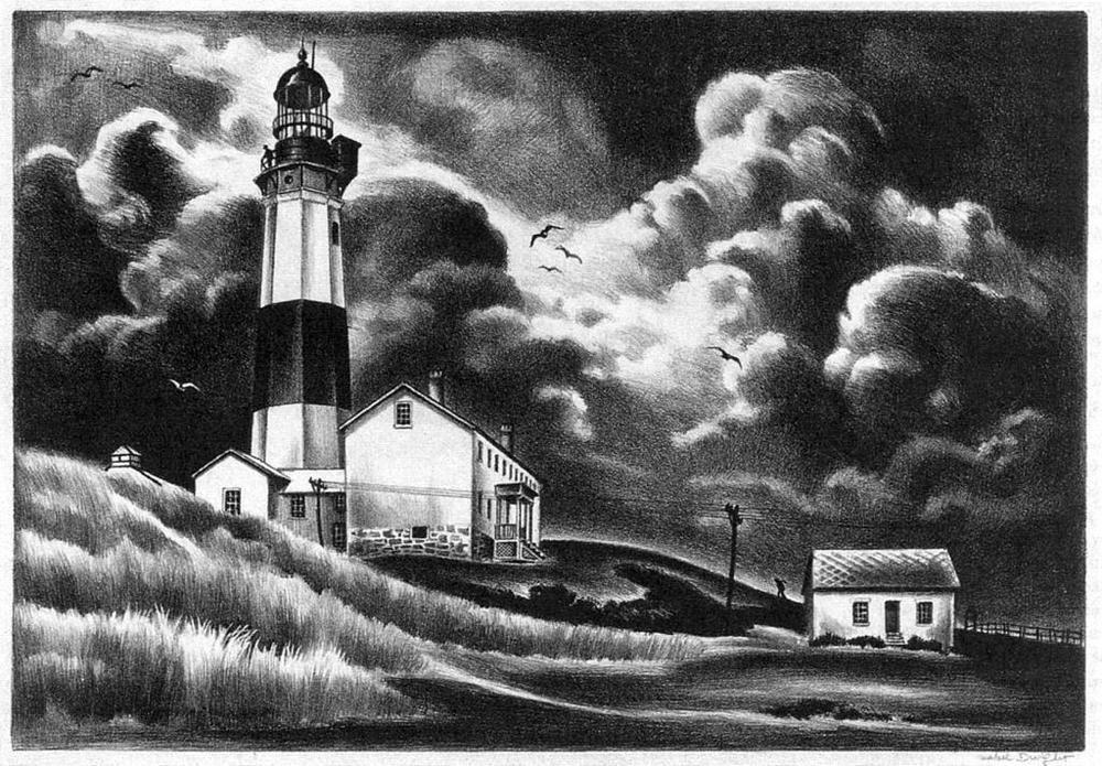 Montauk lighthouse mabel dwight circa 1937 stone lithograph montauk lighthouse mabel dwight circa 1937 stone lithograph sciox Choice Image