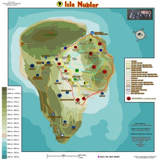 Map Of Jurassic Park Jurassic Park Original Isla Nublar Map | Welcome to Jurassic Park
