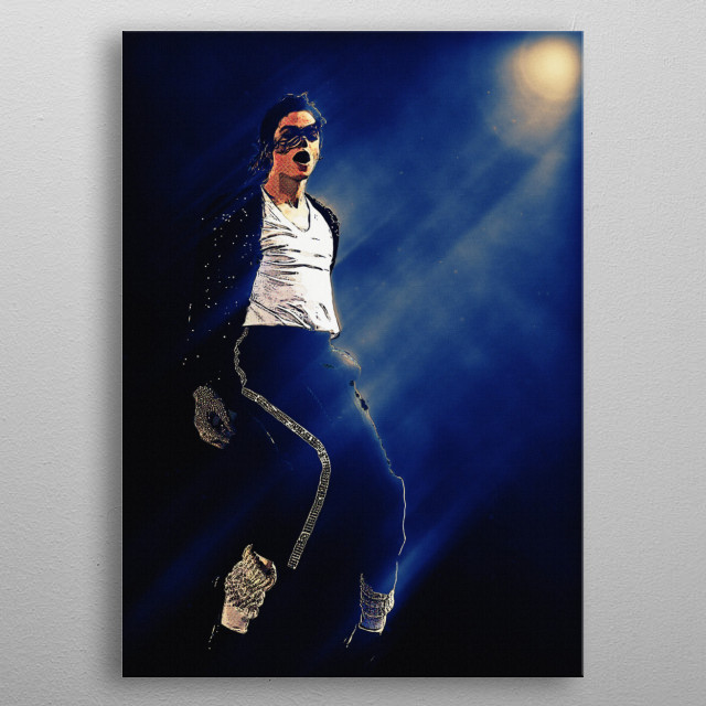 Superstars Michael Jackson Music Poster Print Metal Posters
