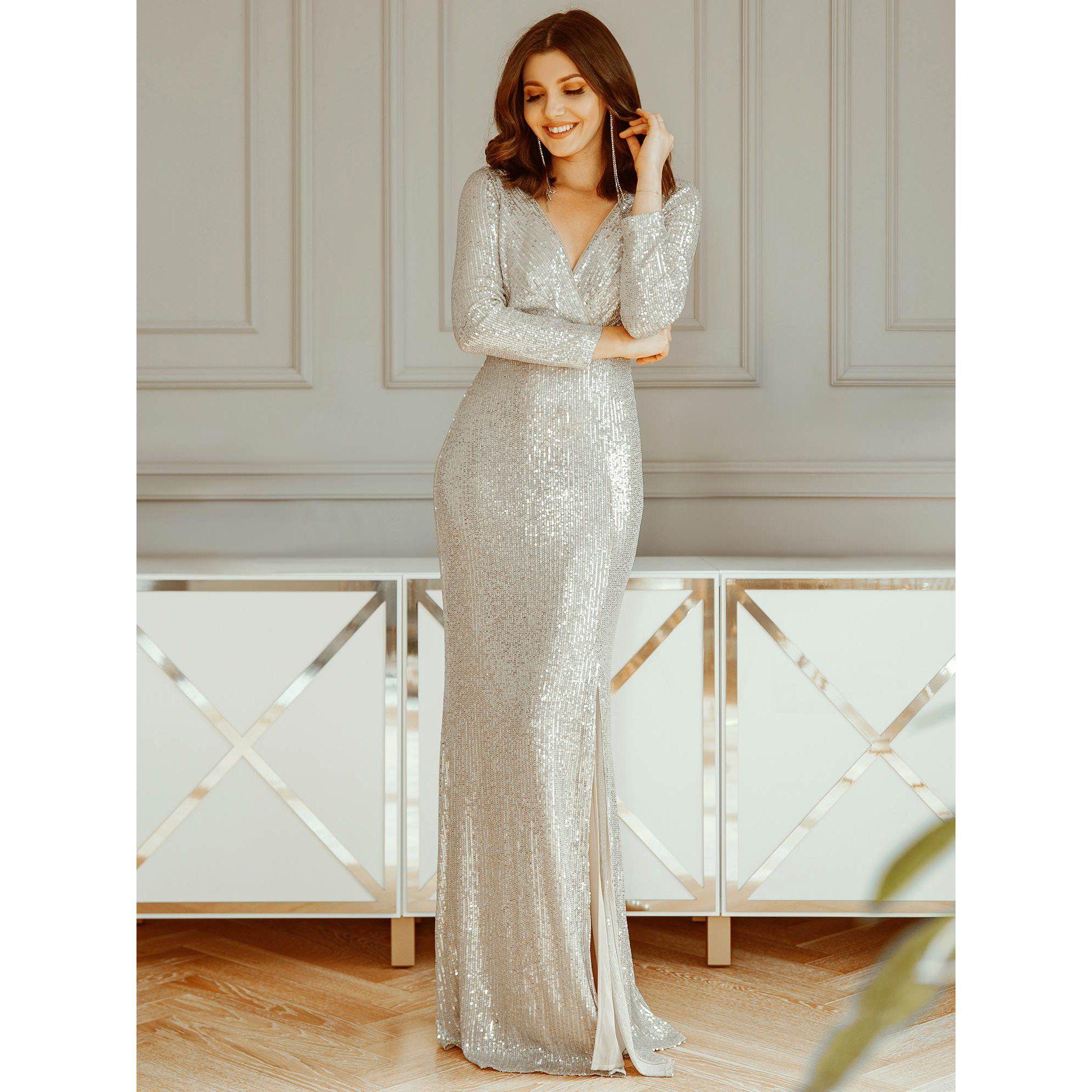 Ever Pretty Ever Pretty Womens Elegant Sequin Formal Evening Prom Dresses For Women 00824 Us4 Walmart Com In 2021 Evening Dresses Elegant Fitted Prom Dresses Long Sleeve Evening Dresses [ 2000 x 2000 Pixel ]