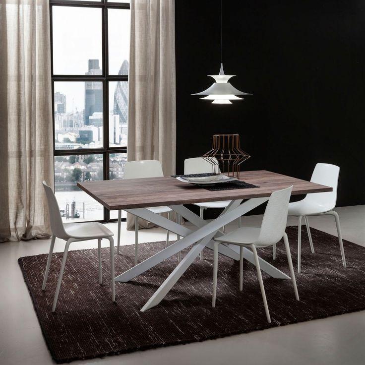 awesome Salle à manger - Table contemporaine extensible en stratifié