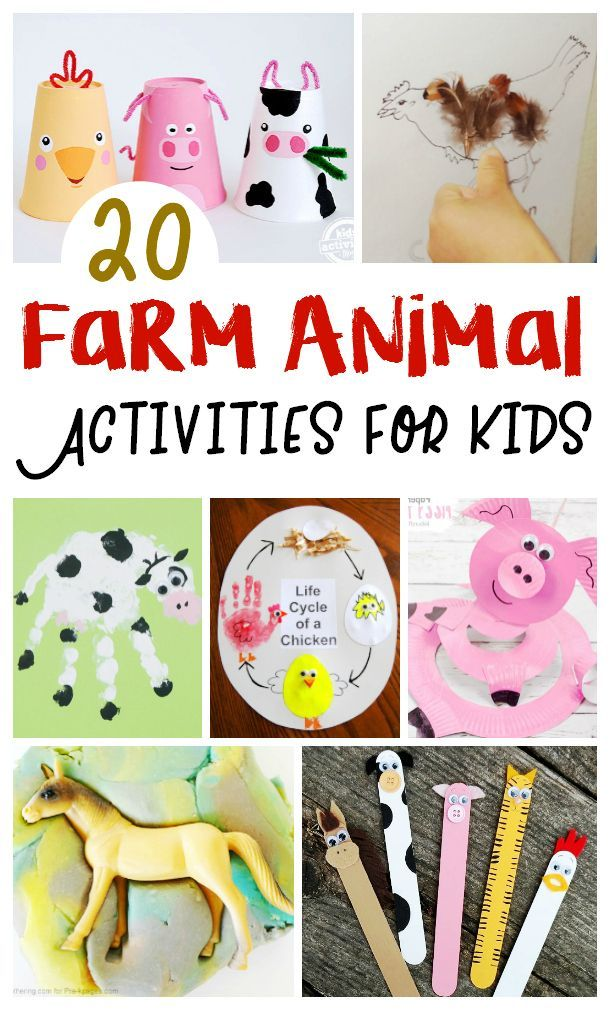 Farm Animal Activities for Kids (Lessons, Crafts and More