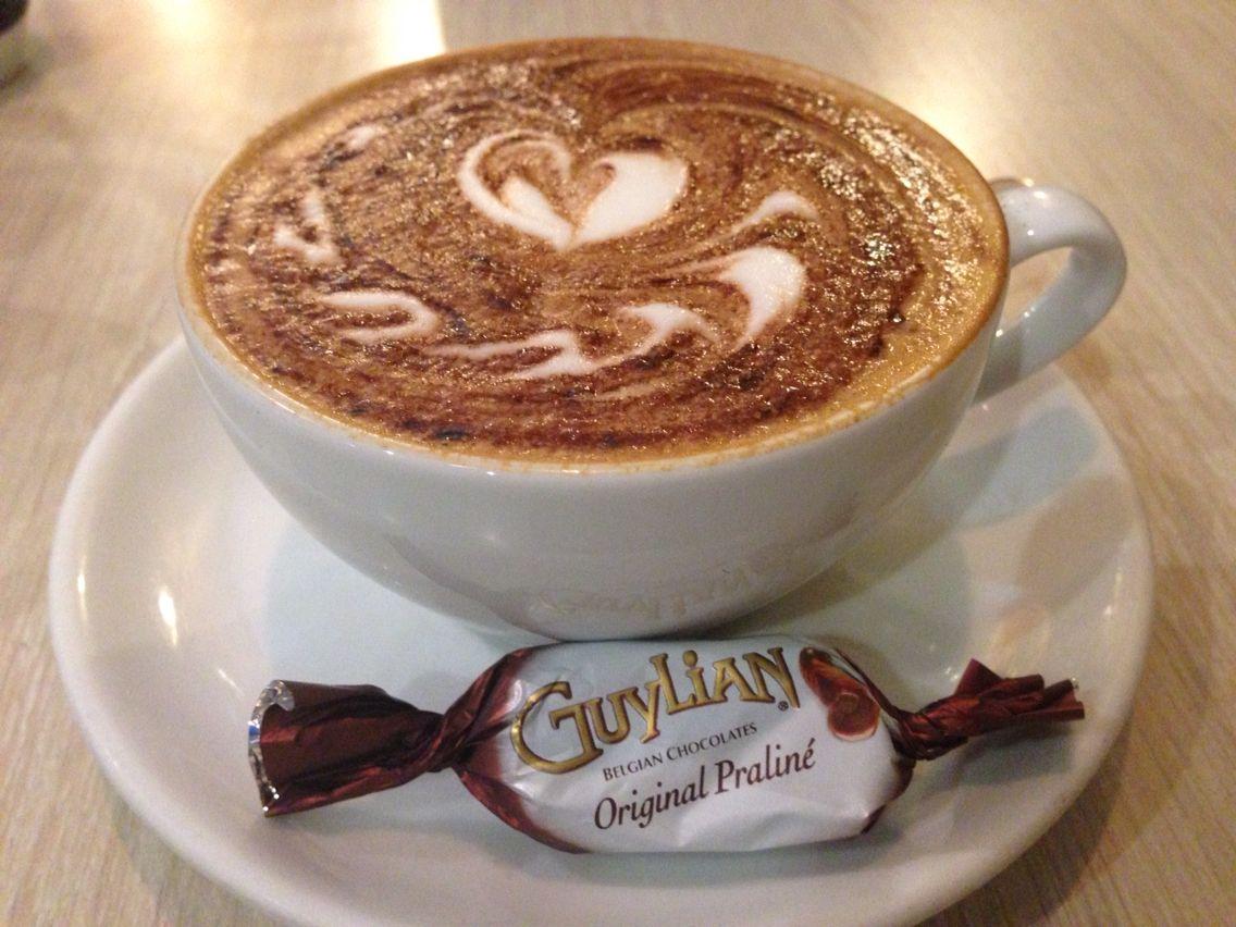 Guylian cappuccino.