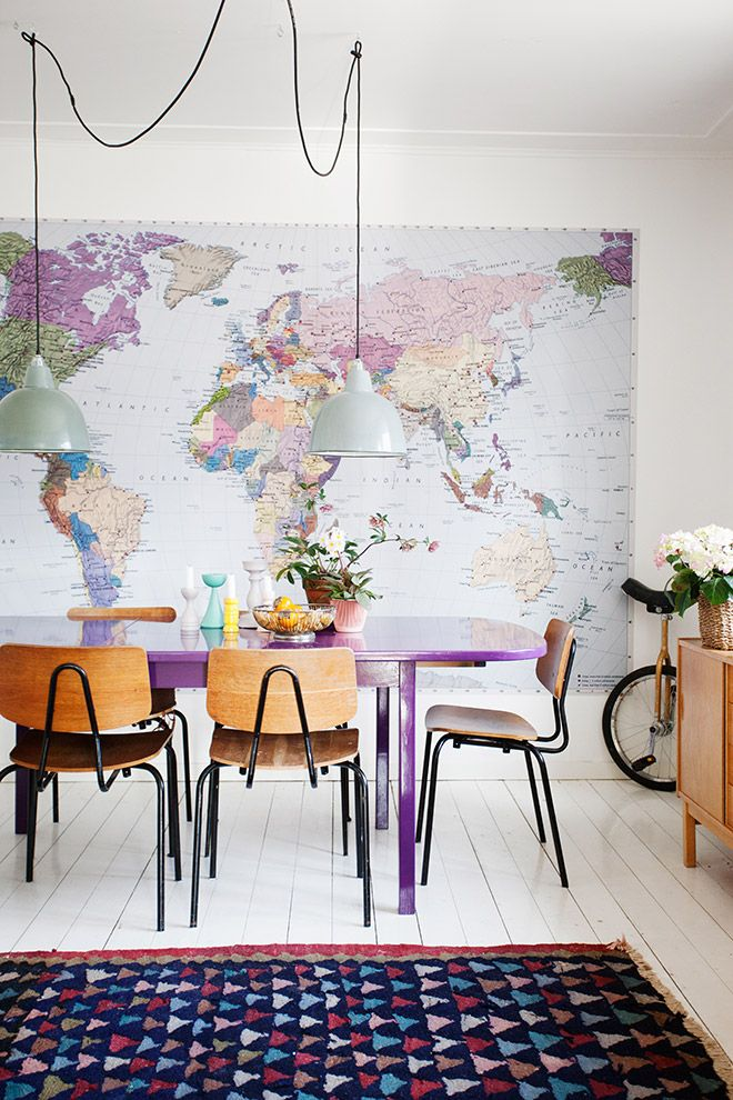 dramatic purple dining room designs in pastels | Pastel and Wanderlust Dining Room | Home decor, Dining ...