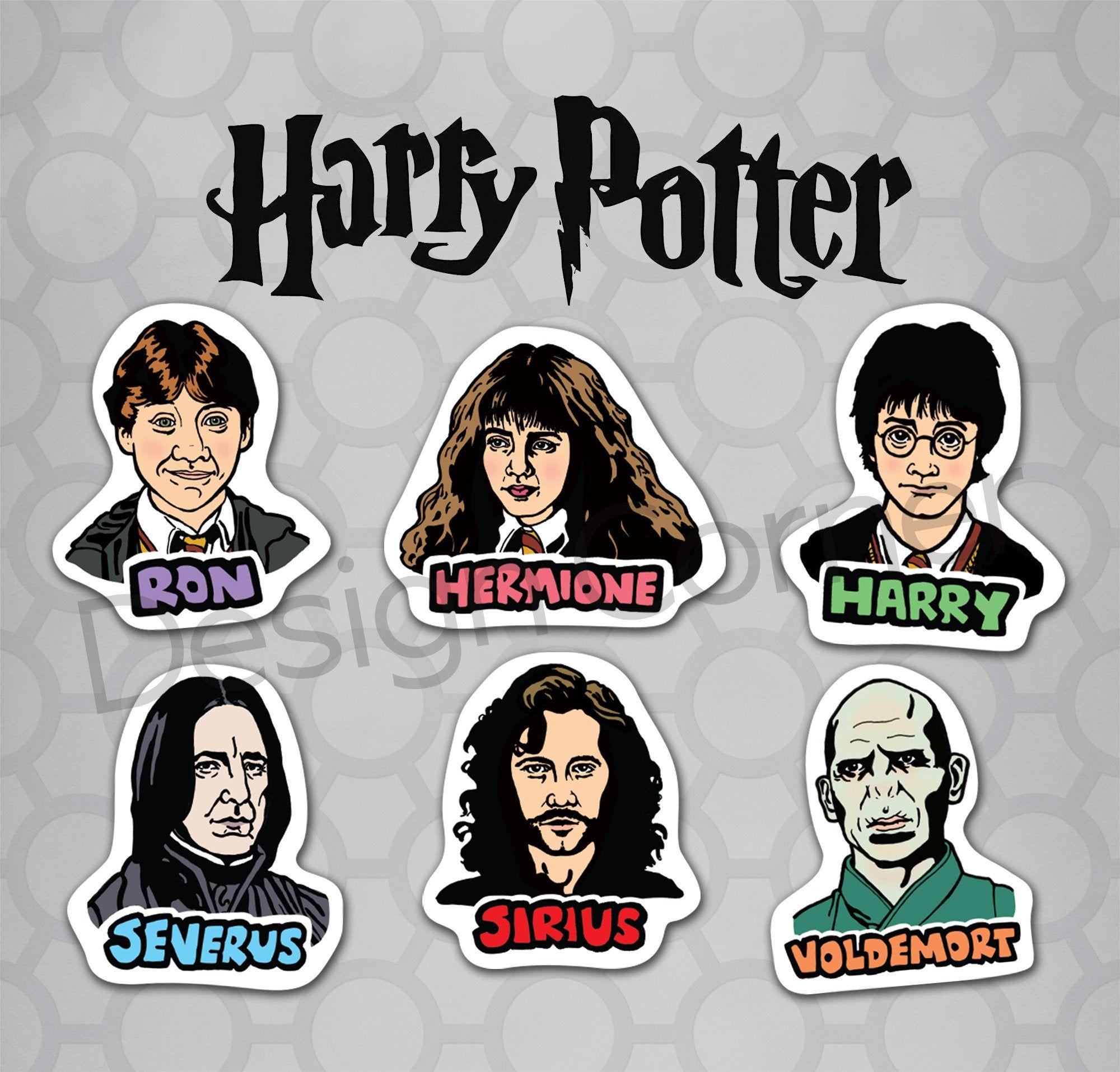 50 Harry Potter Stickers Pack Hogwarts Gryffindor Ron Hermione Vinyl Decals