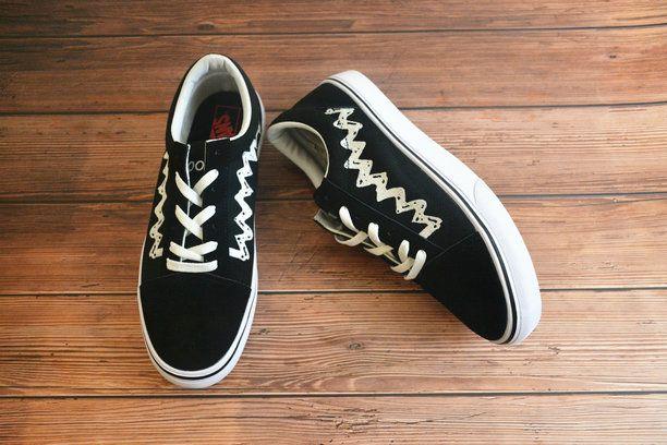 b9ffbc32e40bb3 Vans x Peanuts Old Skool Classic Low Core Black Sewn White Shoe Vans For  Sale  Vans