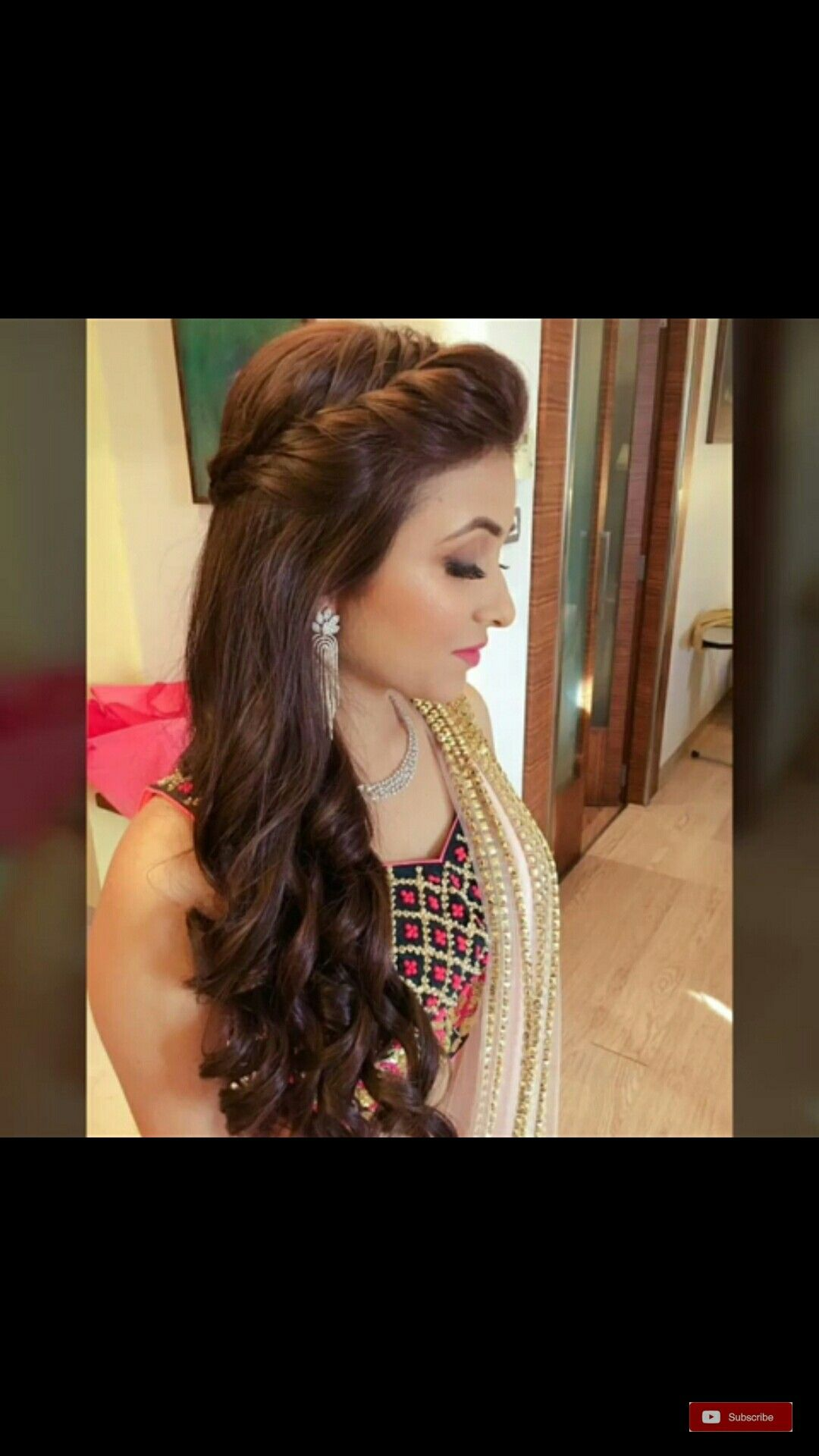 Pin By Mehwish Khan On Engagement Hair Front Hair Styles Hair Styles Long Hair Styles