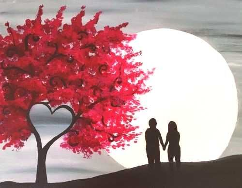 #newbrunswick #moonlight #brunswick #events #paint #heart #tgif #nite #tree #near #new #red #at #in Red Heart Tree in Moonlight at TGIF (New Brunswick) - Paint ...