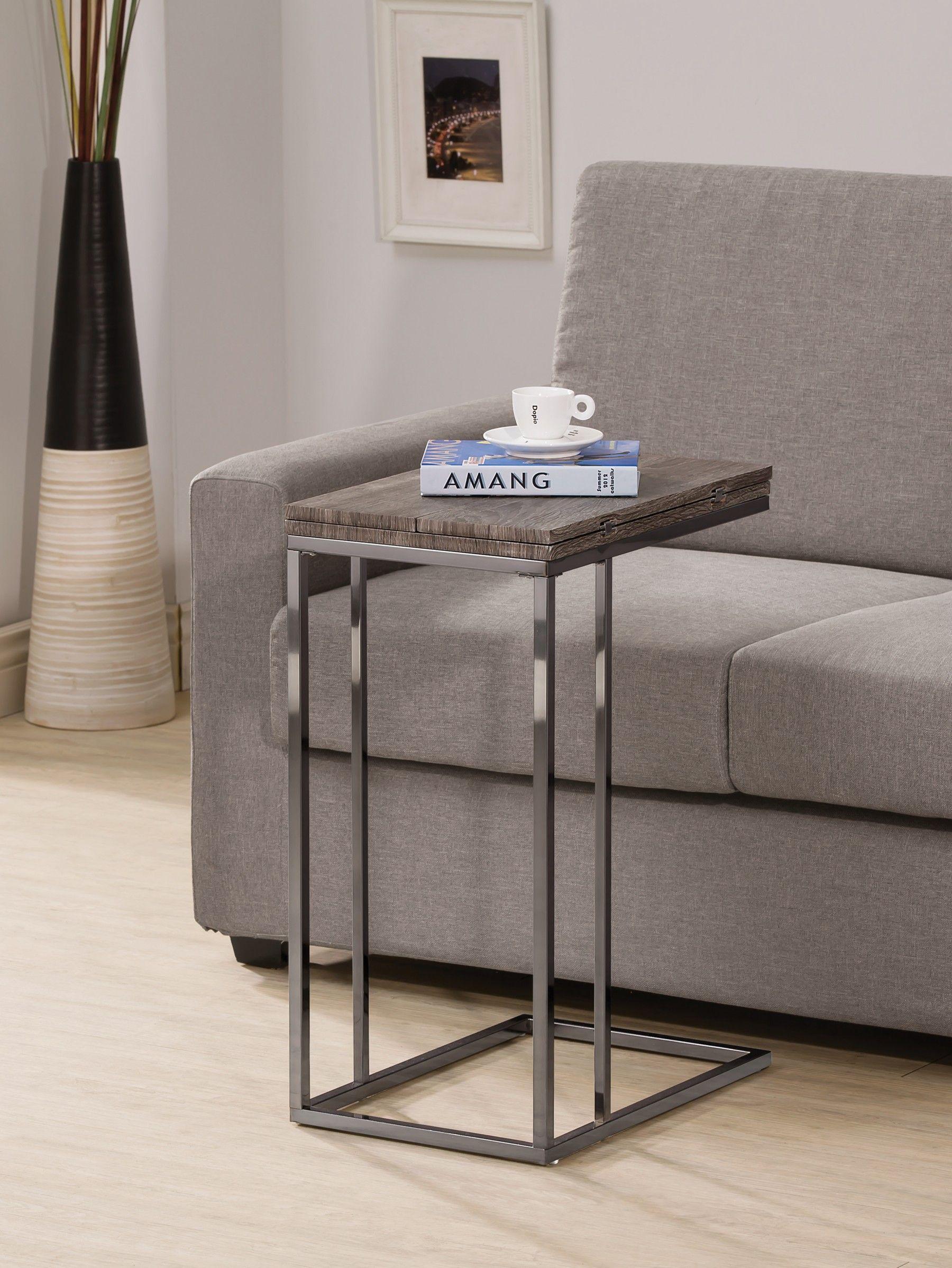 Astonishing Snack Table 902864 Rectangle Weathered Grey Folding Snack Short Links Chair Design For Home Short Linksinfo
