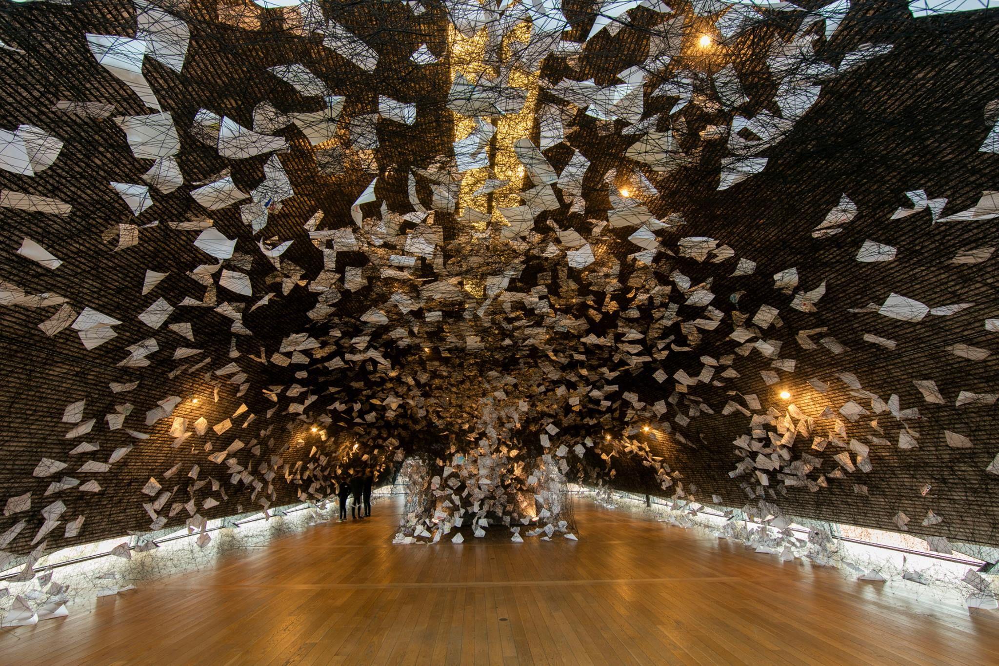 Verdenskendt japansk kunstner Chiharu Shiota indsamler 3000 takkebreve til gigantisk kunstinstallation på KØS marts 2016