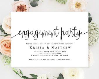Engagement Templates Engagement Party Invitation Printable Editable Template Engagement Announcement Card Engagement Invitation Printable Template