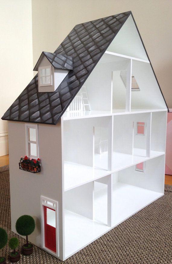 Items similar to Doll House - Girls Doll House, Dollhouse, Wooden Doll House, Doll House For Girls, 'A' Frame Dollhouse, Hand Painted Dollhouse, on Etsy #dollhouses