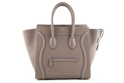 c13bdff299a556 Celine Mini Luggage in Souris/Grey Pebble Leather - lovethatbag Celine  Handbags, Celine Bag