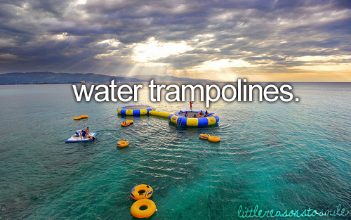 water trampolines!