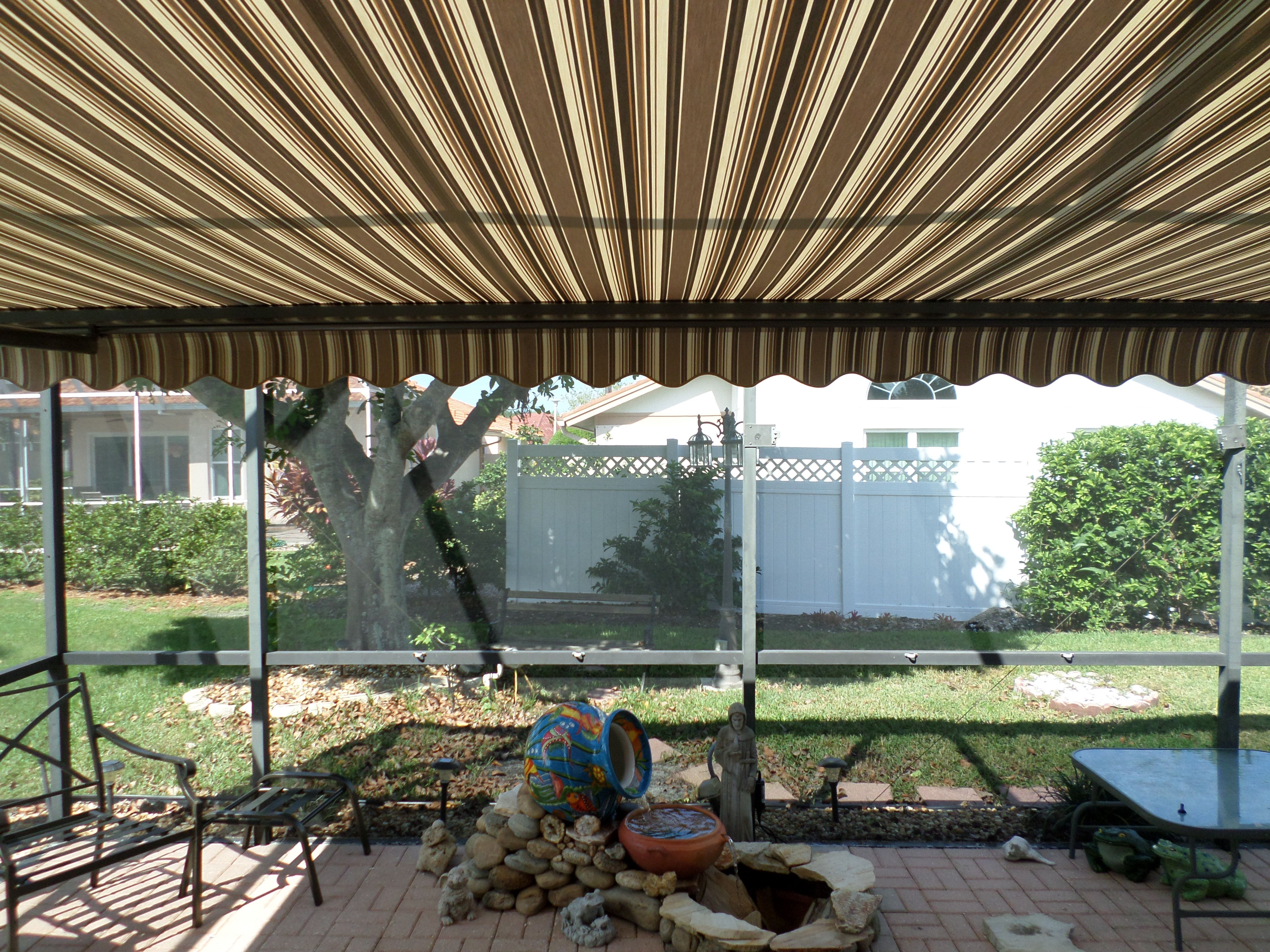 Lovely Back Patio Awning For Shade In The Afternoon.