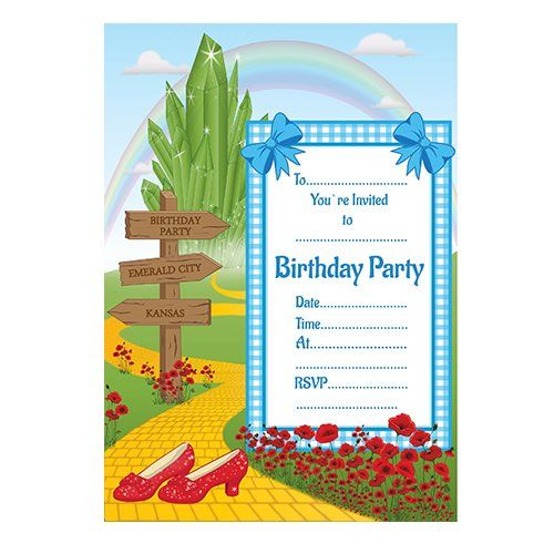 Wizard Of Oz Party Invitations By Party Ideas Uk Kids Invitations Party Invite Template Party Themes