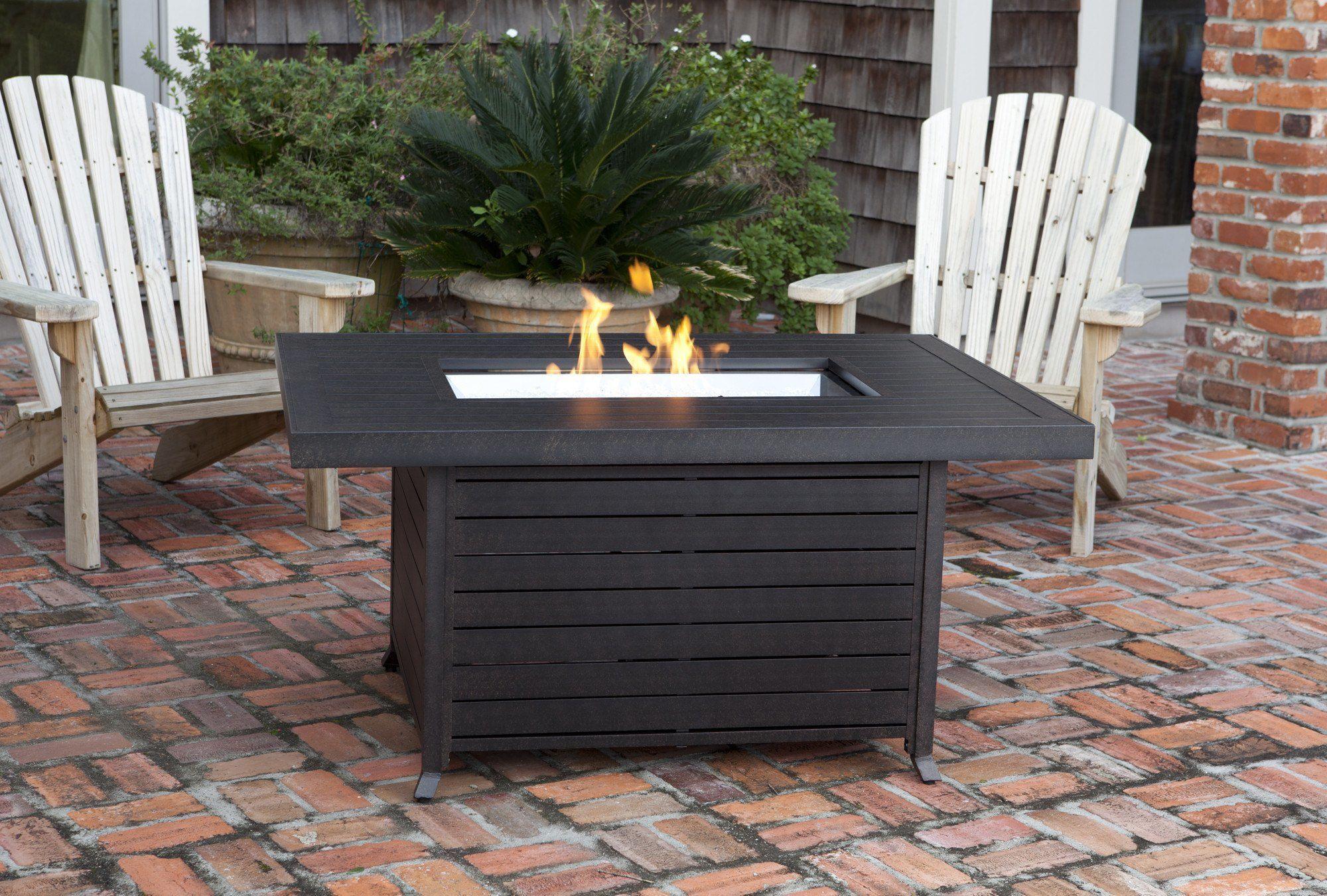 fire sense extruded aluminum 49 inch rectangular lpg fire pit table