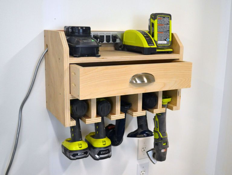 Build This Simple Storage Station For Your Cordless Drill